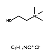 Structure of choline chloride